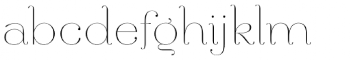Hera Big ExtraThin Font LOWERCASE
