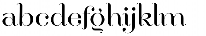 Hera Big Light Font LOWERCASE