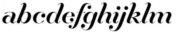 Hera Big Regular Italic Font LOWERCASE