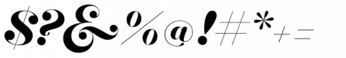 Hera Big SemiBold Italic Font OTHER CHARS