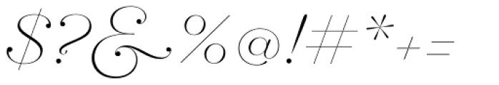 Hera Big Thin Italic Font OTHER CHARS