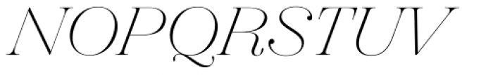 Hera Big Thin Italic Font UPPERCASE
