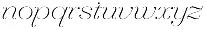Hera Big Thin Italic Font LOWERCASE