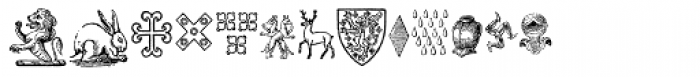 Heraldic Devices Premium Font UPPERCASE