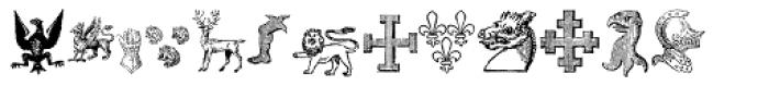 Heraldic Devices Premium Font LOWERCASE