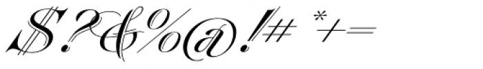 Heraldica Script Font OTHER CHARS
