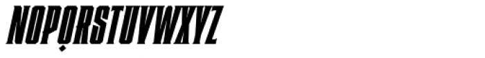 Heretic Condensed Italic Font UPPERCASE