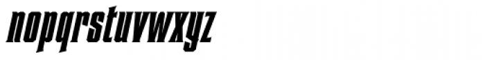 Heretic Condensed Italic Font LOWERCASE
