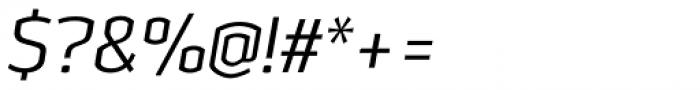 Heritage Set Narrow Light Italic Font OTHER CHARS