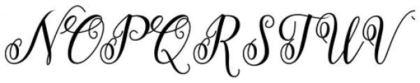 Herochin Regular Font UPPERCASE