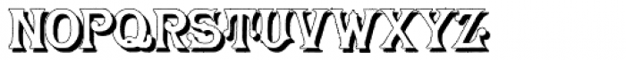 Herr Foch Shadow Font LOWERCASE