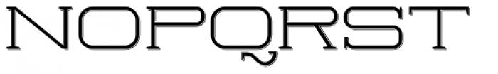Herradura Light Shadowed Font UPPERCASE