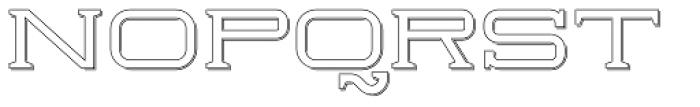 Herradura Outline Shadowed Font UPPERCASE