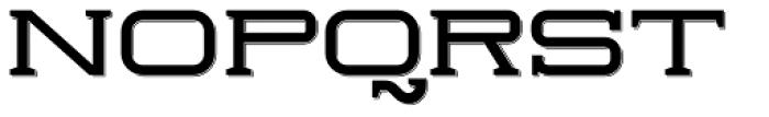 Herradura Solid Shadowed Font UPPERCASE