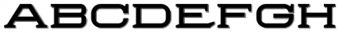 Herradura Solid Shadowed Font LOWERCASE