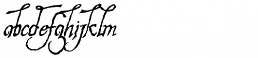 Hesperides Font LOWERCASE