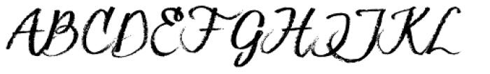 Hesster Moffett Font UPPERCASE