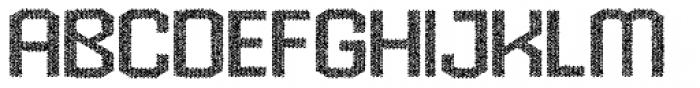 Hexadot Light Grey Chaotic Font UPPERCASE