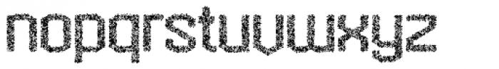 Hexadot Light Grey Crazy Font LOWERCASE