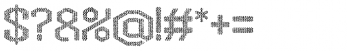 Hexadot Light Silver Chaotic Font OTHER CHARS