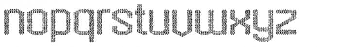 Hexadot Light Silver Chaotic Font LOWERCASE
