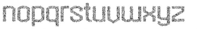 Hexadot Light Silver Crazy Font LOWERCASE