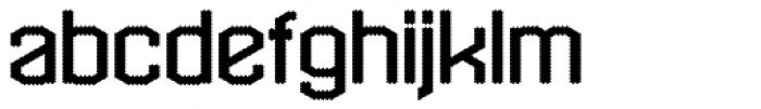 Hexadot Light Font LOWERCASE