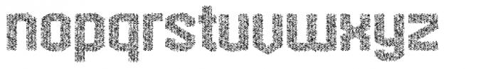 Hexadot Silver Crazy Font LOWERCASE