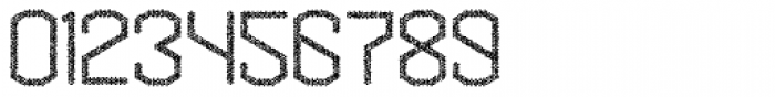 Hexadot Thin Grey Chaotic Font OTHER CHARS