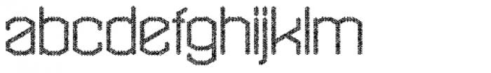 Hexadot Thin Grey Chaotic Font LOWERCASE