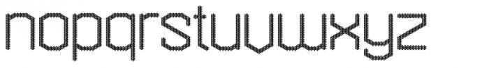 Hexadot Thin Grey Font LOWERCASE