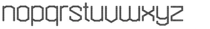 Hexadot Thin Round Font LOWERCASE