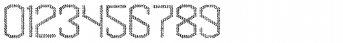 Hexadot Thin Silver Chaotic Font OTHER CHARS
