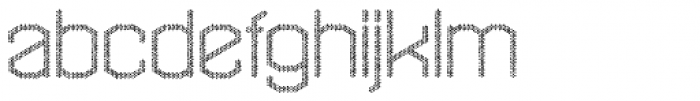 Hexadot Thin Silver Chaotic Font LOWERCASE