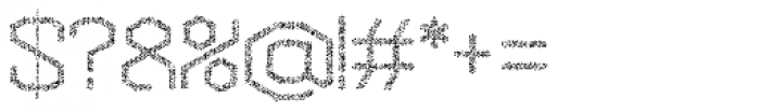 Hexadot Thin Silver Crazy Font OTHER CHARS