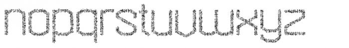 Hexadot Thin Silver Crazy Font LOWERCASE