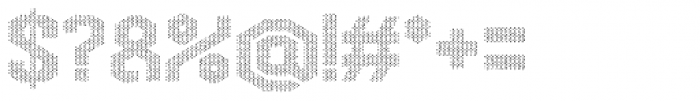 Hexadot White Chaotic Font OTHER CHARS