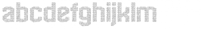 Hexadot White Chaotic Font LOWERCASE