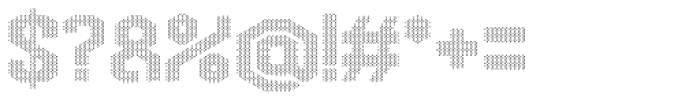 Hexadot White Font OTHER CHARS