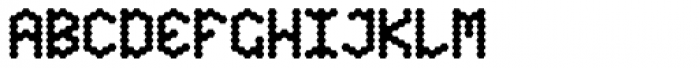 Hexagona Digital Bold Font UPPERCASE