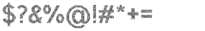 Hexial Chaotic Font OTHER CHARS