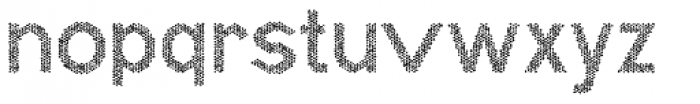 Hexial Chaotic Font LOWERCASE