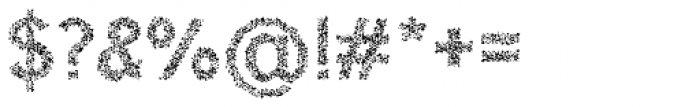 Hexial Crazy Font OTHER CHARS