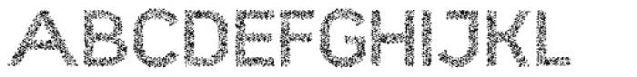 Hexial Crazy Font UPPERCASE