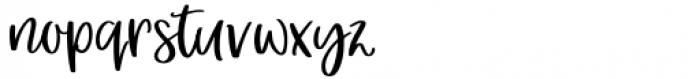 Hey Girl Regular Font LOWERCASE