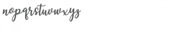 Hearted Script Font LOWERCASE
