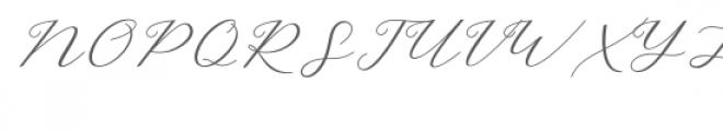 Hello Sarrah Script Font UPPERCASE