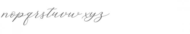 Hello Sarrah Script Font LOWERCASE