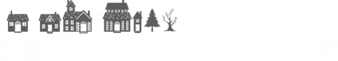 hello winter town doodlebat Font OTHER CHARS