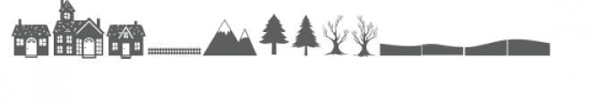 hello winter town doodlebat Font UPPERCASE